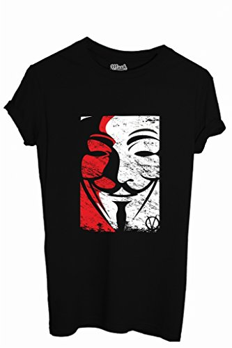 T-Shirt V FOR VENDETTA DISOBEY - FILM by iMage Dress Your Style - Bambino-XL-NERA
