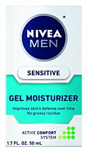 Nivea Sensitive Gel Moisturizer for Men, 1.7 Ounce
