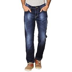 Provogue Men's Feather Slim Fit Jeans (8903522454066_103699-BL-024-36_Blue)