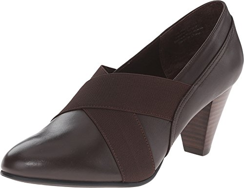 David Tate Women's Karen Fashion Pumps, Brown Leather, 6 M
