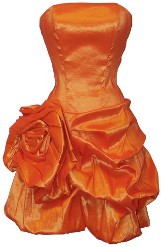 Rosette Taffeta Strapless Mini Dress Prom Party Formal Gown