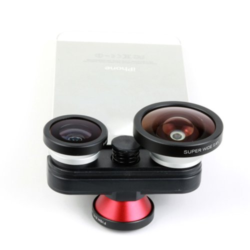 Docooler Fish Eye+Macro+Super Wide+Self-Timer Fisheye 4 In 1 Lens Camera For Iphone 5 5S (For Iphone5 5S)