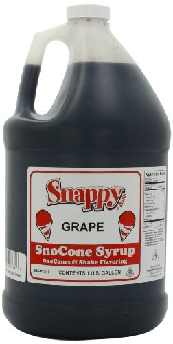 Snappy Popcorn Snappy Snow Cone Syrup 1 Gallon, Grape, 11 Pound (Gallon Snow Cone Syrup compare prices)