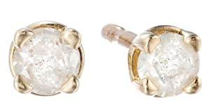 10k Gold Round-Cut Diamond Studs (1/10 cttw, J-K Color, I2-I3 Clarity) from Amazon Curated Collection