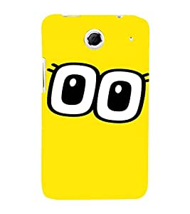 PrintVisa Cartoon Eyes Emotion 3D Hard Polycarbonate Designer Back Case Cover for Lenovo K880