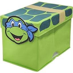 Adorable Nickelodeon Ninja Turtles Figural Toy Box