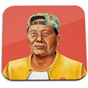 Mao Zedong Wooden Coaster - Pop Art Modern Contemporary Decorative Art Coaster, Hipstory Project By Amit Shimoni...
