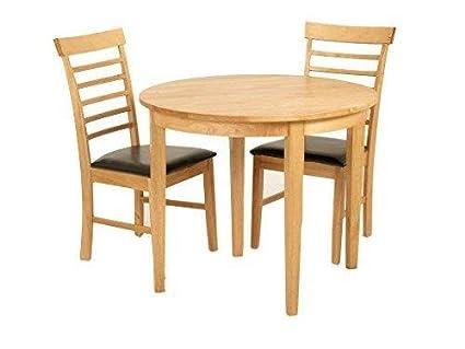 Eiche Massivholz Esstisch Und Stuhle, Hartholz, Tisch mit 2 Stuhlen-Kuchentisch / Esstisch