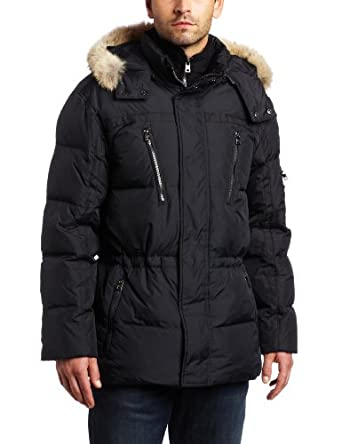 Marc New York By Andrew Marc Men's Hudson 31.5-Inch Down Parka, Black, Small