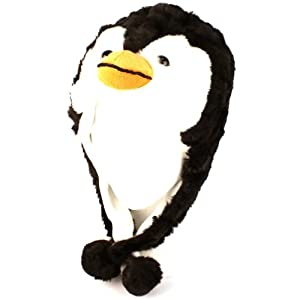 Plush Penguin Kids Animal Winter Hat