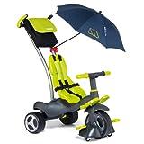 Molto 13214 - Triciclo deluxe con ruedas de goma, giro 360º y sombrilla