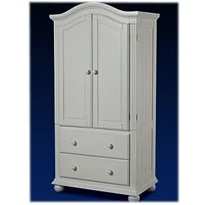 Amazon.com: Vista Armoire Finish: French White: Wardrobe ...