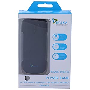 Syska Power Tube 52 Power Bank  WOT0045  available at Amazon for Rs.1249