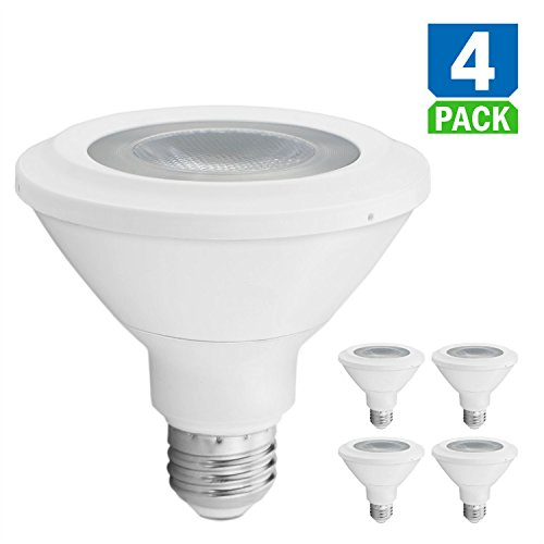 Vanlite Led Par30 Daylight 5000k Dimmable Bulbs Short Neck Spot Light 4pack - 13w 75w Equivalent 120v E26 - UL Qualified