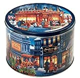 Imported Danish Butter Cookies in Large Reusable Tin with Paintings
