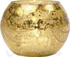 Gold Mercury Glass Votive Candle Holder (globe design)