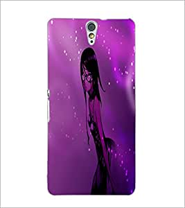 PrintDhaba Stylish Girl D-4008 Back Case Cover for SONY XPERIA C5 ULTRA (Multi-Coloured)