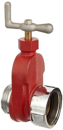 "Dixon HGV250 Brass Single Hydrant Gate Valve, 2-1/2"" NST female x NPSH male"