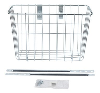 Bike Baskets 135 Front Grocery Bicycle Basket 14.5 9.5 9, Silver