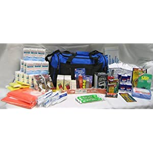 Survival Kit Deluxe Perfect Earthquake, Evacuation, Emergency Disaster Preparedness 72 Hour Kits for Home, Work or Auto: 4 Person