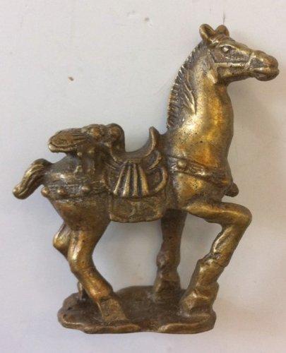 Feng Shui Fly Atop Horse Mah Shiong Yeng Statue Figurine