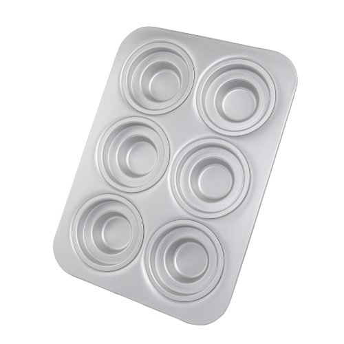 Fat Daddio's Crown Muffin/Cupcake Pan with 6 Round Shaped Cups