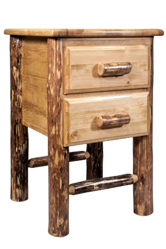 Montana Woodworks Glacier Country Collection 2-Drawer Nightstand/End Table