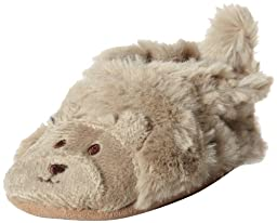 Robeez Fuzzy Bear Slipper Crib Shoe (Infant), Taupe, 0-6 Months M US Infant