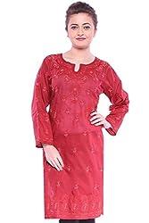 ADA Chikan Needlecraft trend Ethnic Exquisite Tunic Kurti Kurta Dress S99048