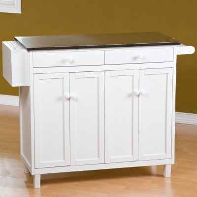 The Randall Stationary Kitchen Island With Optional Stools Ewb200 Stationary Kitchen Islands