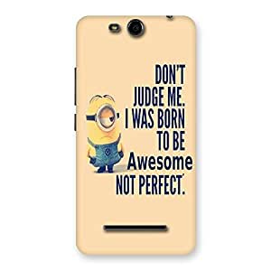 Stylish Quote Minio Yel Back Case Cover for Micromax Canvas Juice 3 Q392