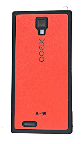 ECellStreet Exclusive Hard Back Side Soft Red Back Case Cover Back Cover for Micromax A99 Canvas Xpress with HOTKNOT