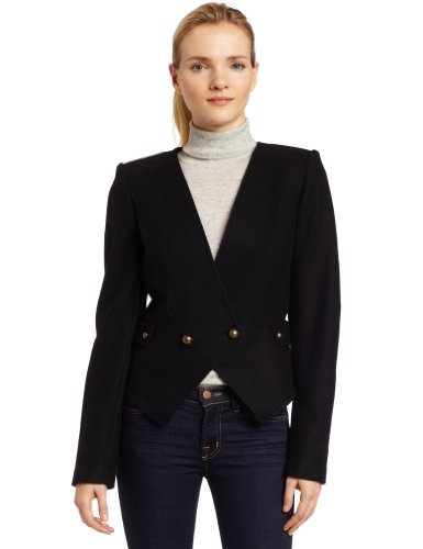7 For All Mankind Womens Cutaway Blazer In Wool Blend