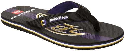 Quiksilver Men's Baltimore Ravens NFL Flip Flop,Black/Purple,9 M US at Amazon.com