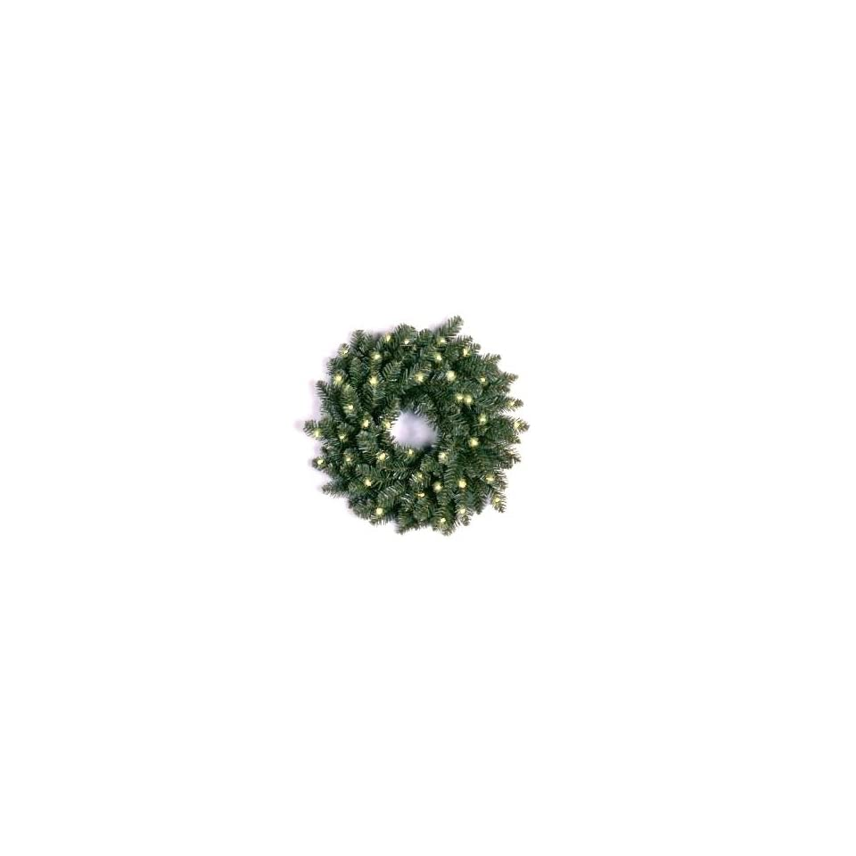 National Tree Company NAFF1 24WLO 24 Inch Natural Fraser Fir Wreath with 50 Clear Lights