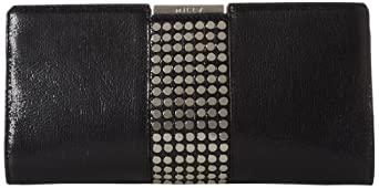 MILLY Stud Frame Clutch,Black,One Size