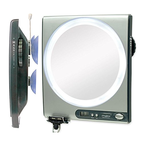 Zadro Z'Fogless LED Adjustable Magnification Fogless Shower Mirror (Fogless Shower Mirror With Clock compare prices)