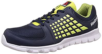 Reebok Women's Electrify Speed Running Shoes, 10 UK/India (44.5 EU)(11 US), Collegiate Navy, Green and White