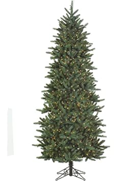 #!Cheap 9' Slim Fresh Cut Carolina Frasier Artificial Christmas Tree Clear Pre-Lit