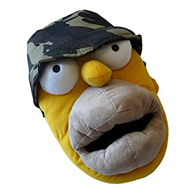 Amazon.com: The Simpsons Mens Homer Simpson Slippers Plush Cammo House