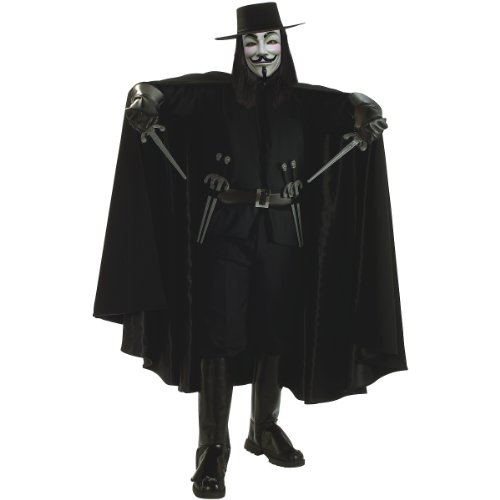 Super Deluxe V for Vendetta Costume - X-Large - Chest Size 44-46