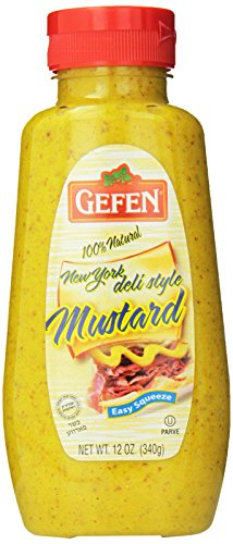 Gefen 100% Natural New York Deli Style Mustard, 12 Ounce (Pack of 12)