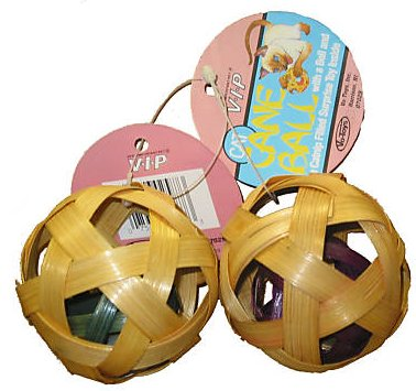 Natural Cane Ball Cat Toy – 2 pack
