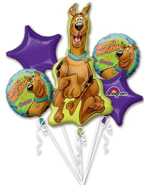 Scooby-Doo Birthday Balloon Bouquet (5 balloons included)