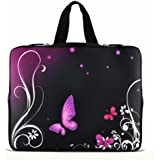 """11.6"""" 12.1"""" 12.2"""" inch Notebook Carrying bag Laptop Sleeve Case with Hide Handle for Samsung Chromebook/Samsung Galaxy Tab Pro 12.2/DELL Latitude E6230 XT2 XPS Duo/ASUS B23 /HP 4230S 2560P/TOSHIBA U920T/intel Letexo - Purple Butterfly N12-15600"""
