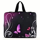 Purple Butterfly 9.7″ 10″ 10.1″ 10.2″ inch Laptop Netbook Tablet Case Sleeve Carrying bag with Hide Handle For iPad 2 3/Asus EeePC 10 transformer/Acer Aspire one/Dell inspiron mini/Samsung N145/Toshiba/Kindle DX/Lenovo S205/HP Touchpad Mini 210 Reviews