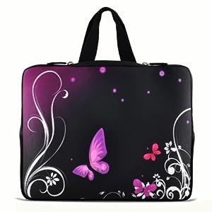 """Purple butterfly 13"""" 13.3"""" inch Notebook Laptop Case"""