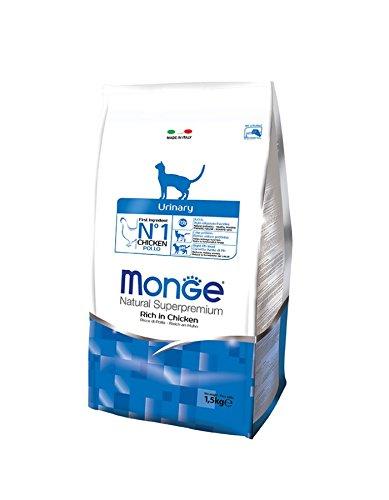 Monge Natural Superpremium Urinary 1,5 kg - Alimento completo al pollo, per gatti adulti con problemi al tratto urinario