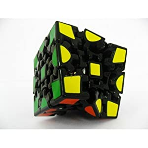 ThinkMax 3D Gear Cube 1st Generation black Painted Sticker Twisty Puzzle