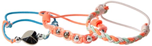 Carter's Little Girls'  3-Pack Neon Heart and Braid Bracelet Set